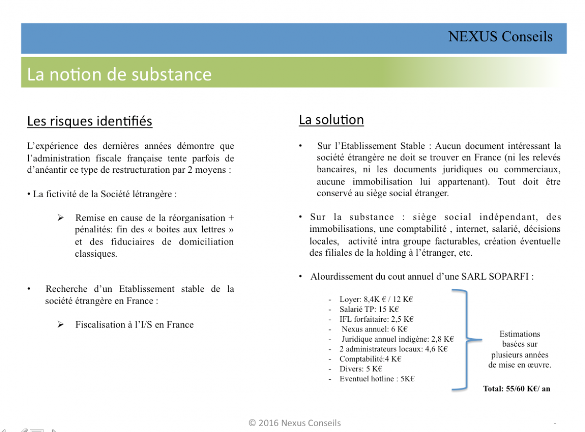 la notion de substance