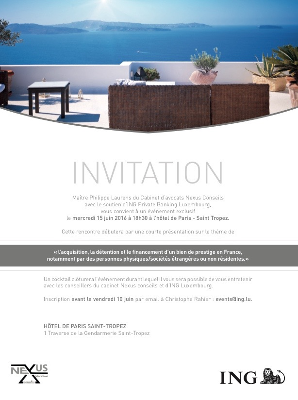 Invitation Acquisition bien exception